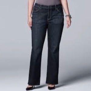 Simply Vera Vera Wang Boot Jeans Size 16